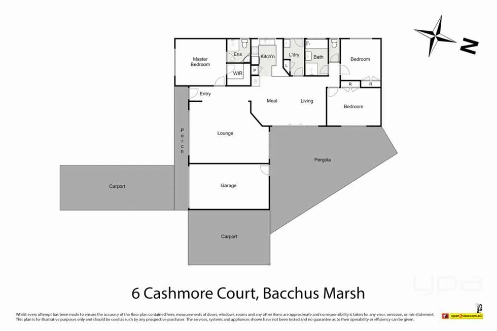 Floorplan of Homely house listing, 6 Cashmore Court, Bacchus Marsh VIC 3340