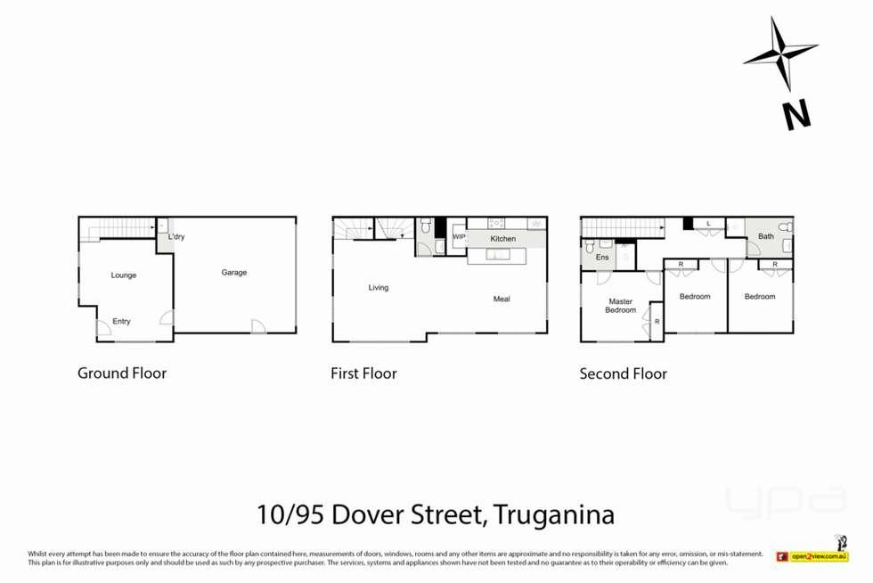 Floorplan of Homely townhouse listing, 10/95 Dover Street, Truganina VIC 3029