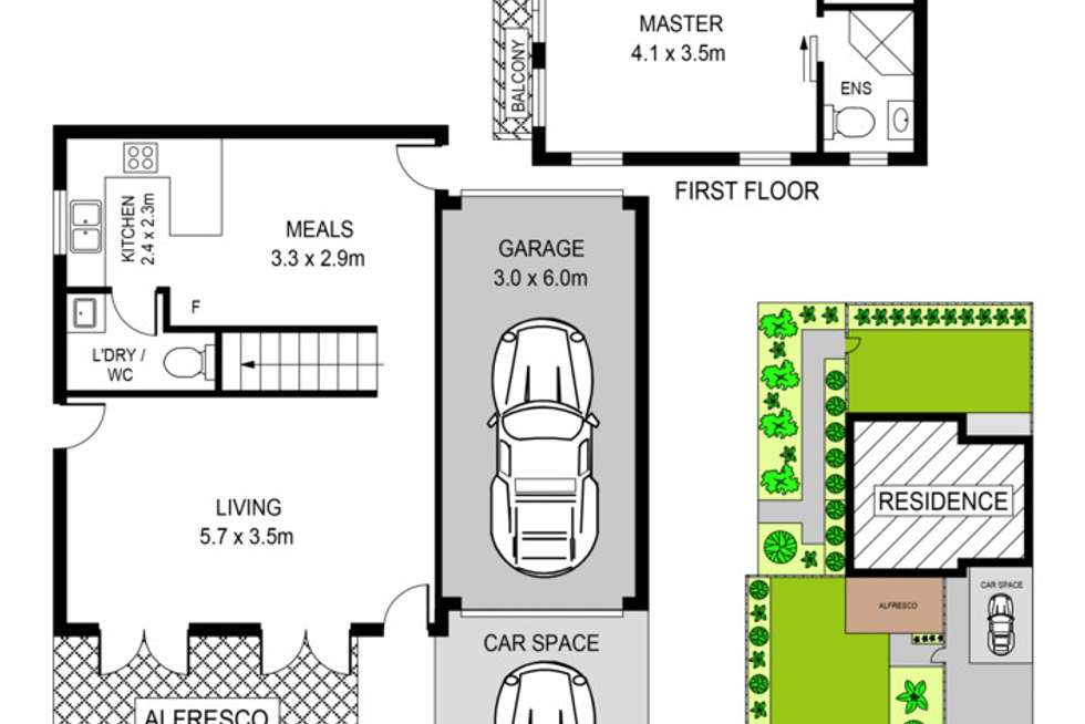 Floorplan of Homely townhouse listing, 2 The Mews, Oatlands NSW 2117