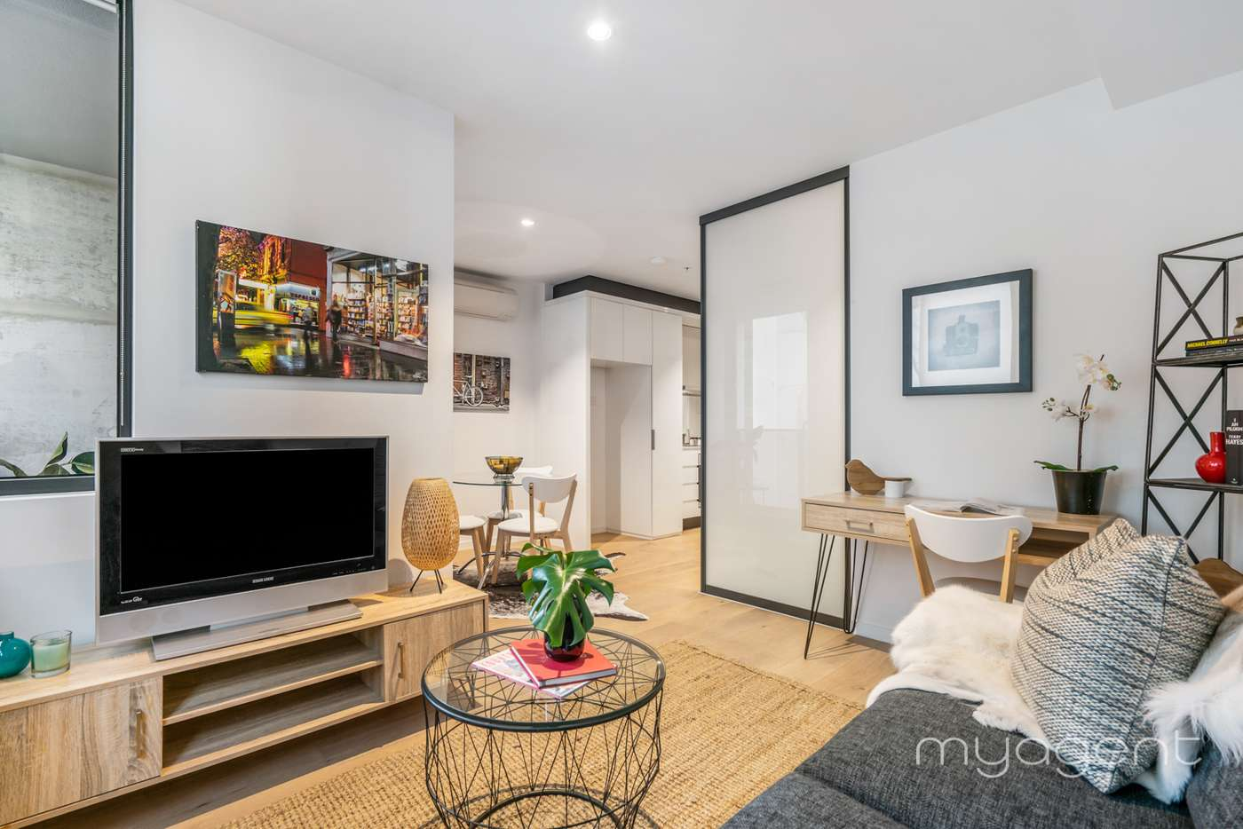 Main view of Homely apartment listing, 1804/33 Rose Lane, Melbourne VIC 3000