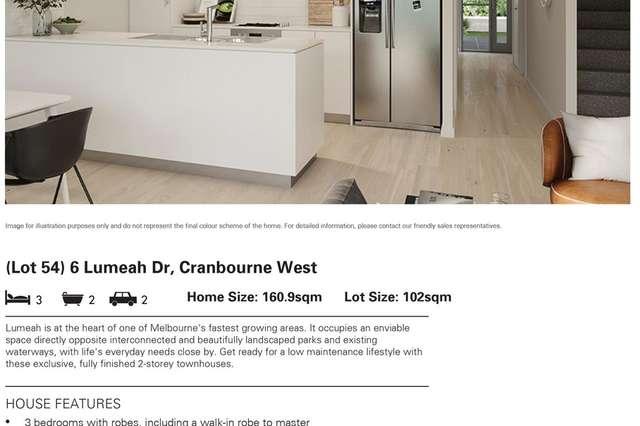 Lot 54/6 Lumeah Drive, Cranbourne West VIC 3977