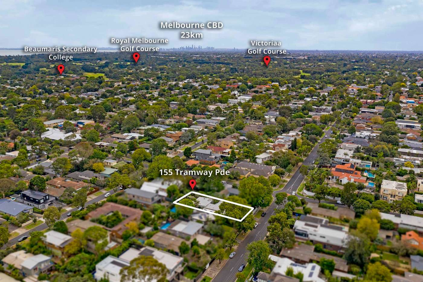 Fifth view of Homely house listing, 155 Tramway Parade, Beaumaris VIC 3193