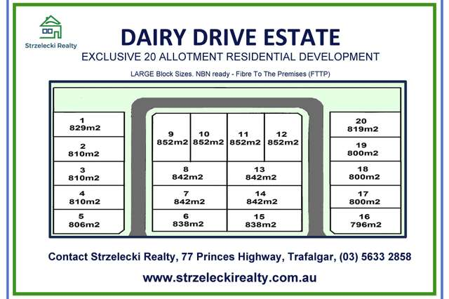 LOT 20 Dairy Drive Estate, Trafalgar VIC 3824
