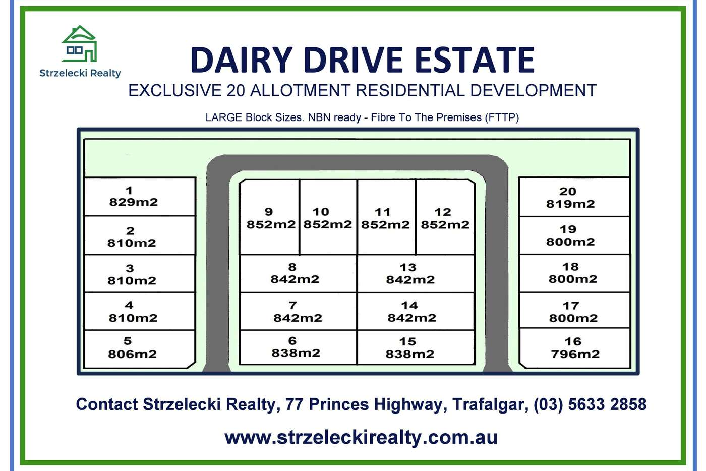 Main view of Homely residentialLand listing, LOT 20 Dairy Drive Estate, Trafalgar VIC 3824