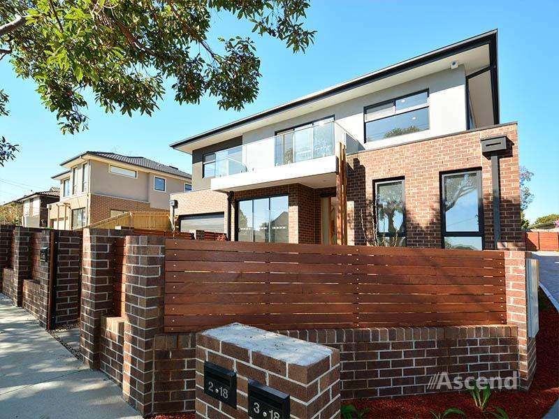 Main view of Homely townhouse listing, 1/18 Leura Street, Doncaster East, VIC 3109