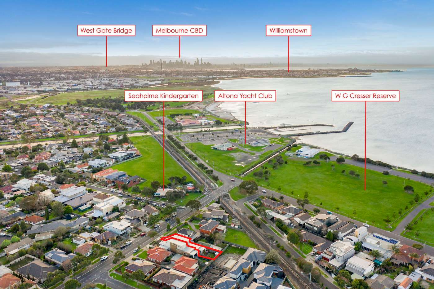 Main view of Homely house listing, 10 Civic Parade, Seaholme, VIC 3018