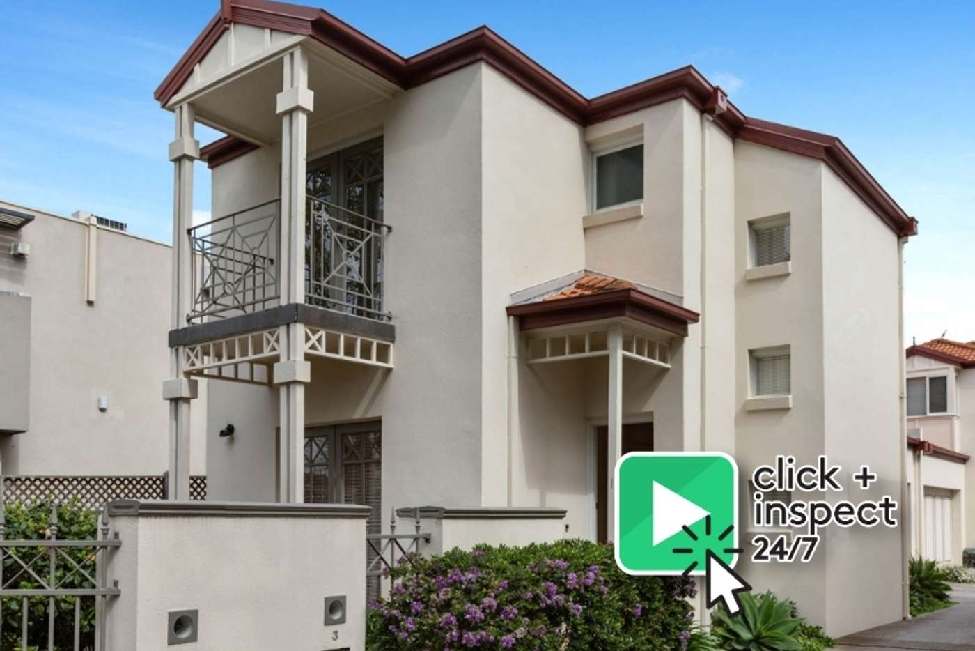 Main view of Homely townhouse listing, 1/483 St Kilda Street, Elwood VIC 3184