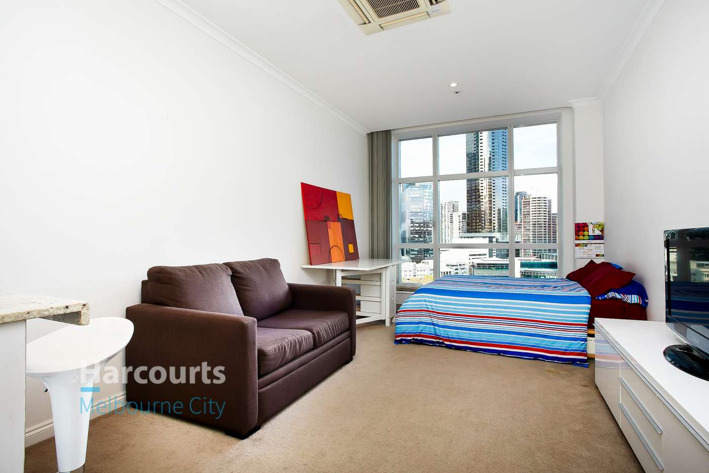 Main view of Homely studio listing, 1105B/1 William Street, Melbourne VIC 3000