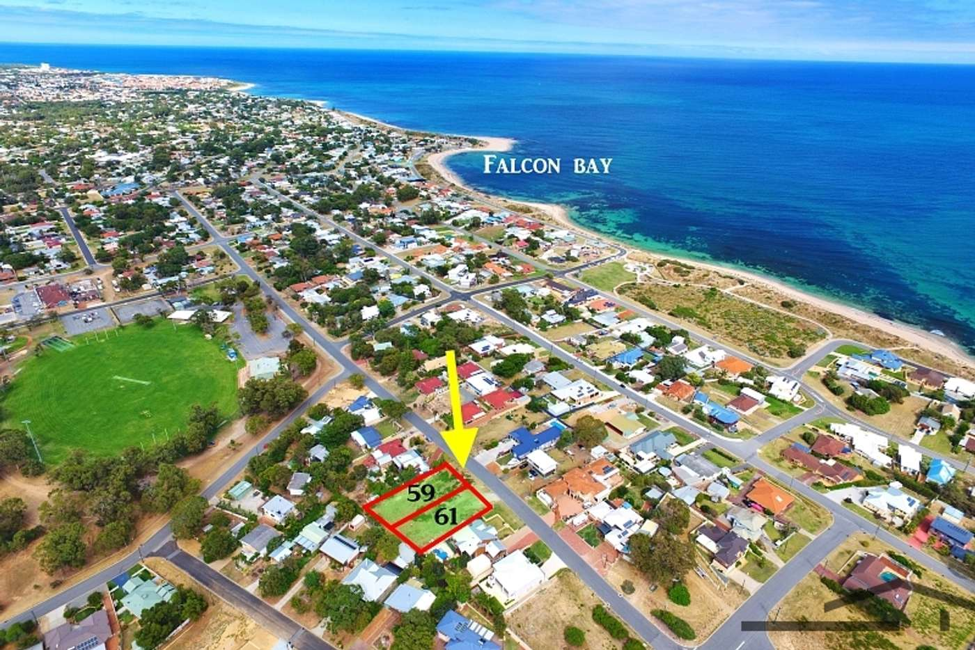 Main view of Homely residentialLand listing, 61 Lynda Street, Falcon WA 6210