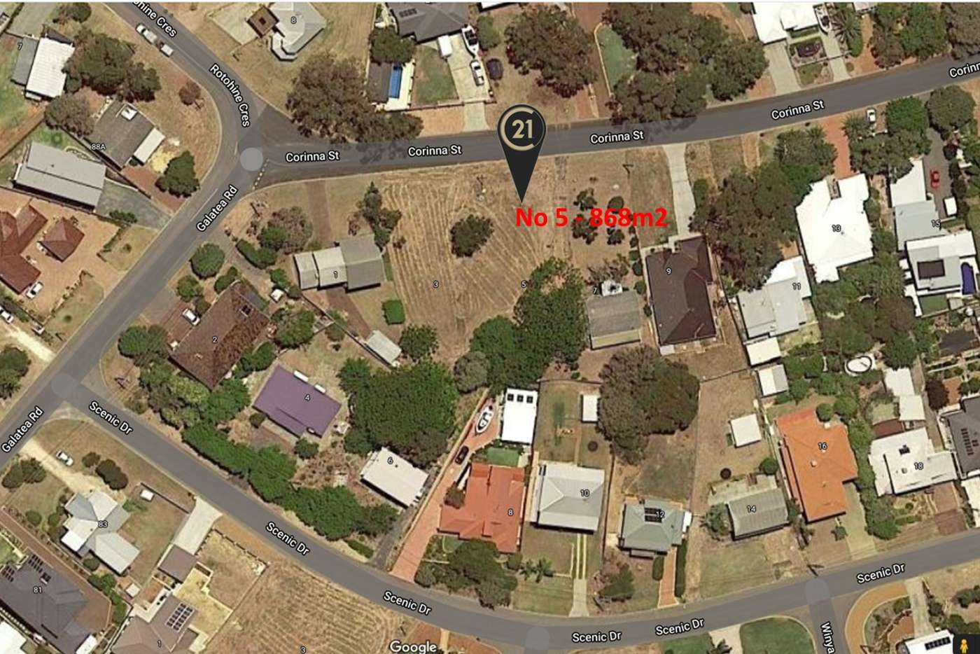 Main view of Homely residentialLand listing, 5 Corinna Street, Falcon WA 6210