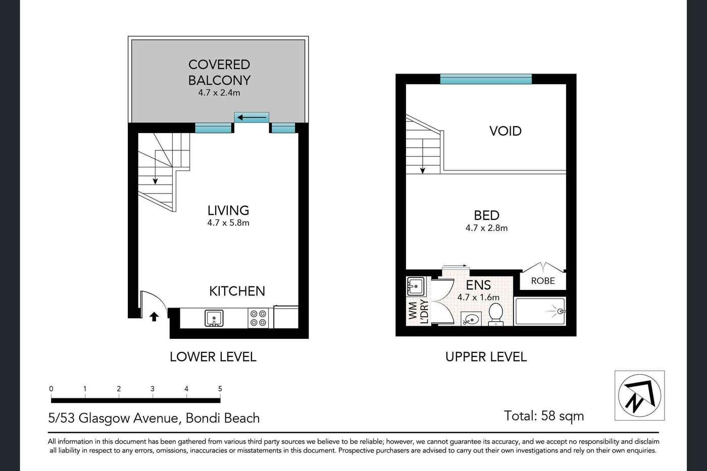 Seventh view of Homely apartment listing, 5/53 Glasgow Avenue, Bondi Beach NSW 2026