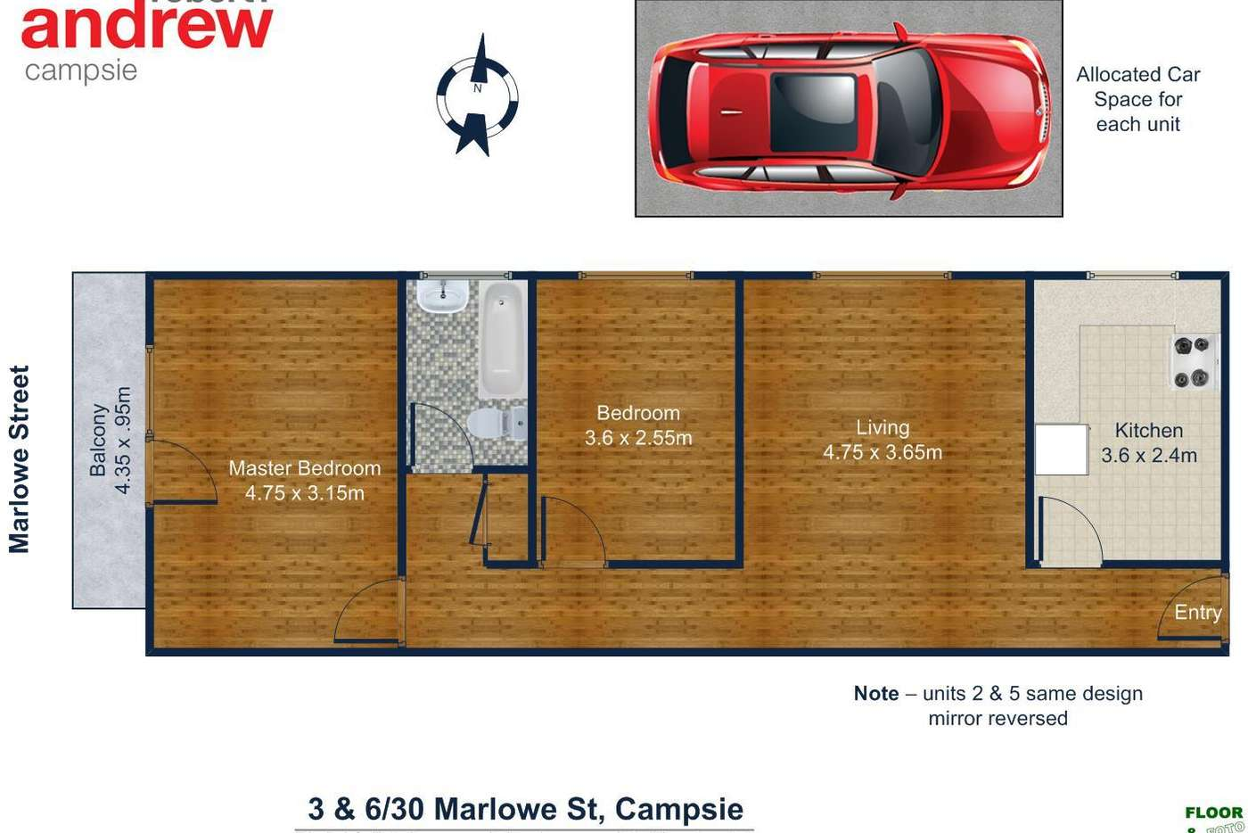 Sixth view of Homely blockOfUnits listing, 1-6/30 Marlowe Street, Campsie NSW 2194