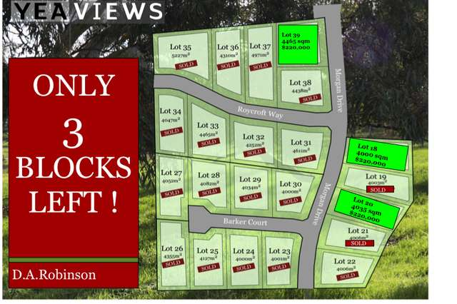 LOT 18 to 39/52 Lawrances Road, Yea VIC 3717