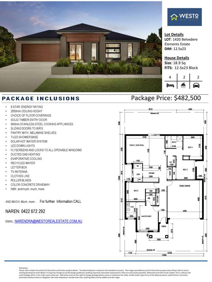 Main view of Homely  listing, 1420 Belvedere Drive, Truganina, VIC 3029