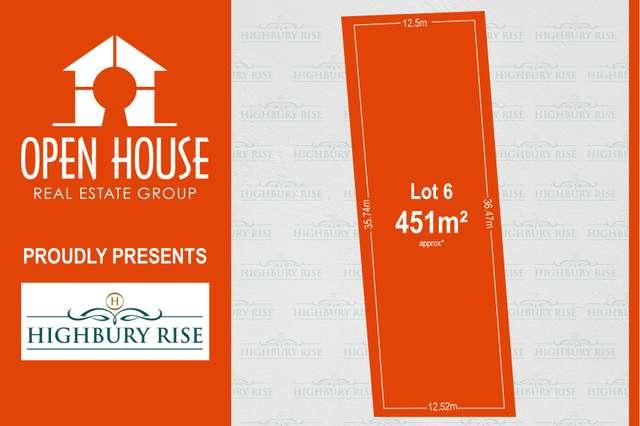 Lot 6, 1113 Lower North East Road, Highbury SA 5089