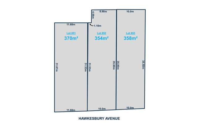 Lot 851-853 Hawkesbury Avenue, Kilburn SA 5084