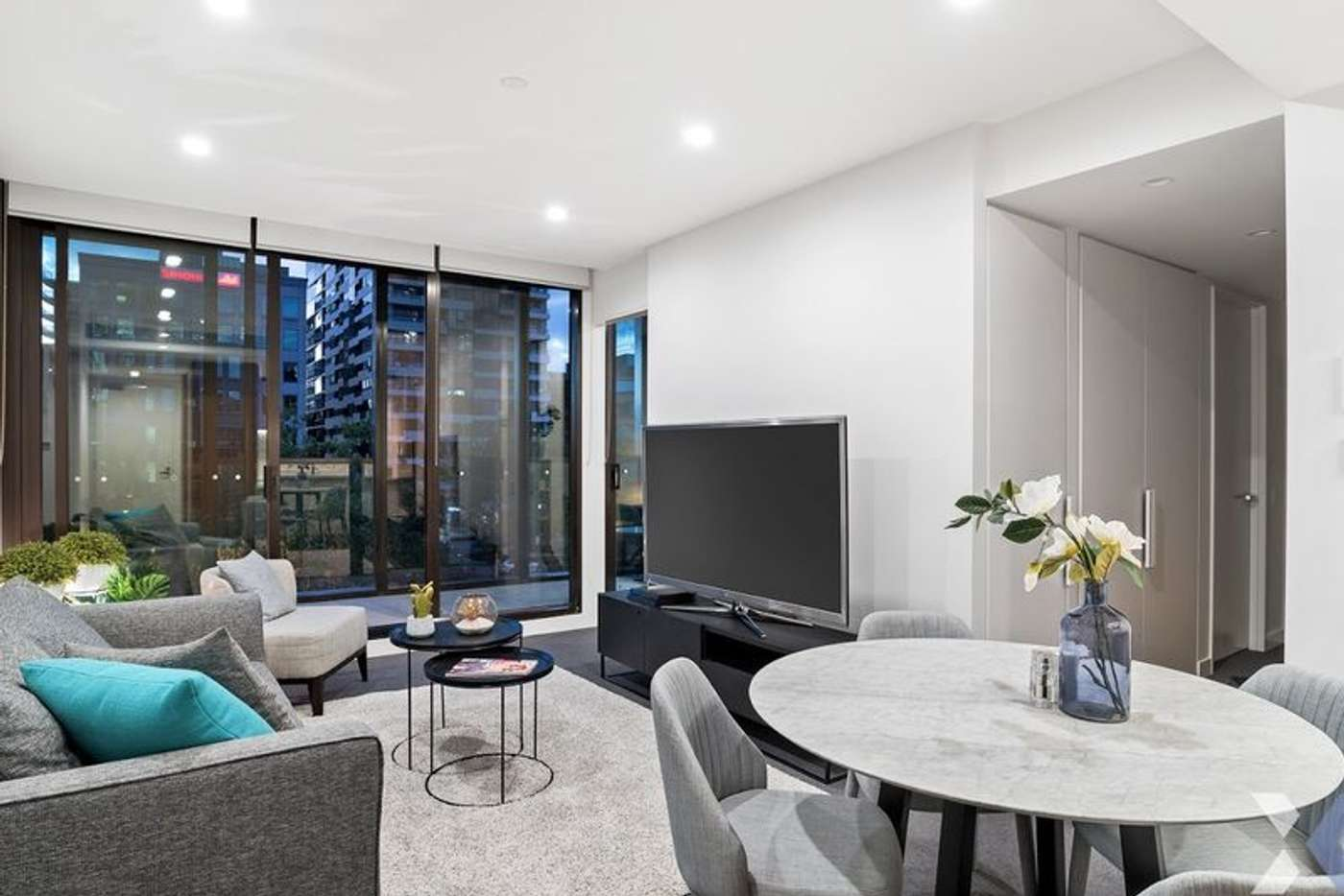 Main view of Homely apartment listing, 702/555 St Kilda Road, Melbourne VIC 3004
