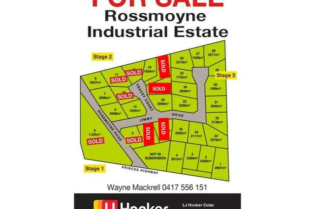 Rossmoyne Industrial Estate, Colac West VIC 3250