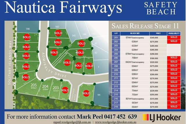 Lot 203 Admiralty Drive - Stage 11, Safety Beach NSW 2456