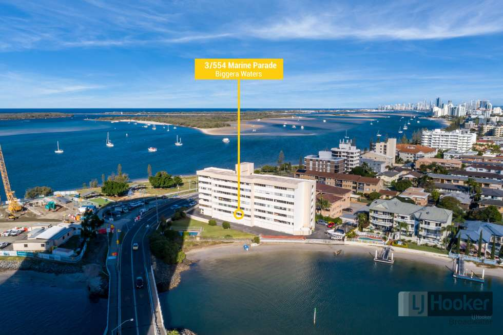 Second view of Homely apartment listing, 3/554 Marine Parade, Biggera Waters QLD 4216