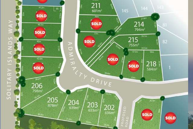 Lot 215 Admiralty Drive - Stage 11, Safety Beach NSW 2456