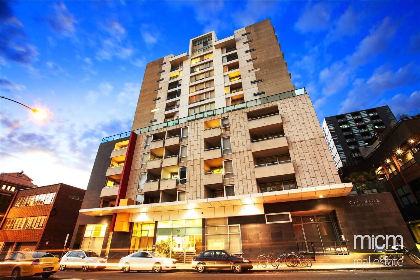 Main view of Homely studio listing, 912/58 Jeffcott Street, West Melbourne, VIC 3003