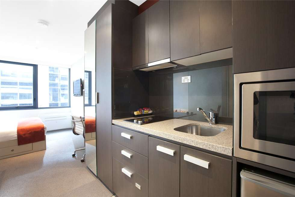 Second view of Homely studio listing, 602/181 ABeckett Street, Melbourne VIC 3000