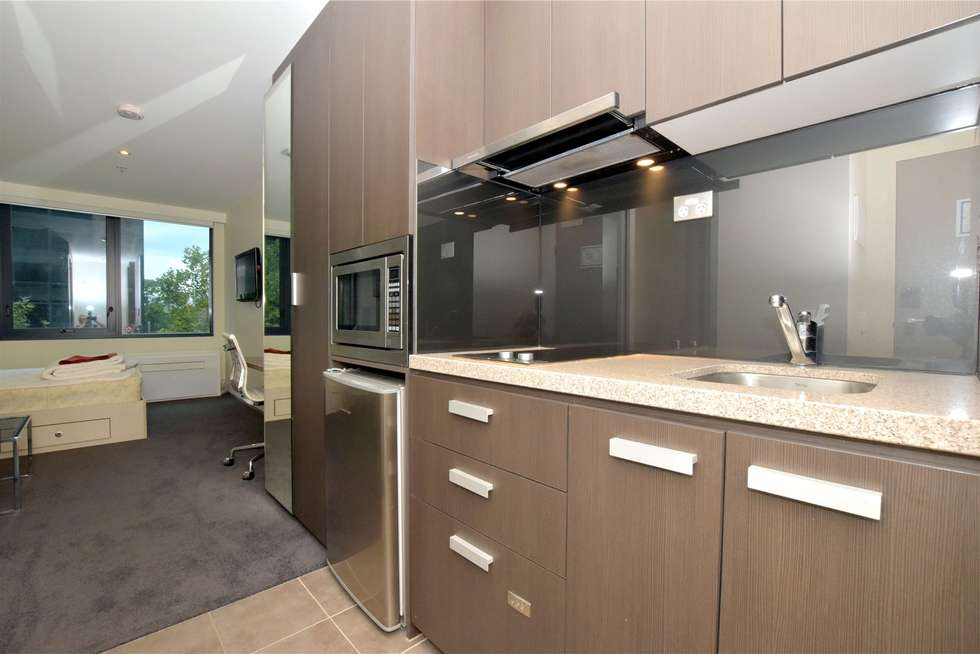 Second view of Homely studio listing, 406/181 ABeckett Street, Melbourne VIC 3000