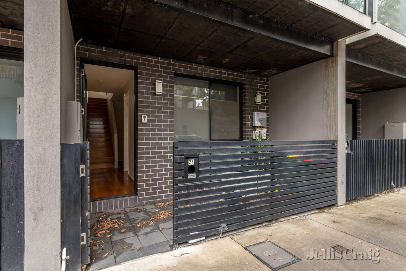 Main view of Homely townhouse listing, 24 Mary Moodie Way, Brunswick East VIC 3057
