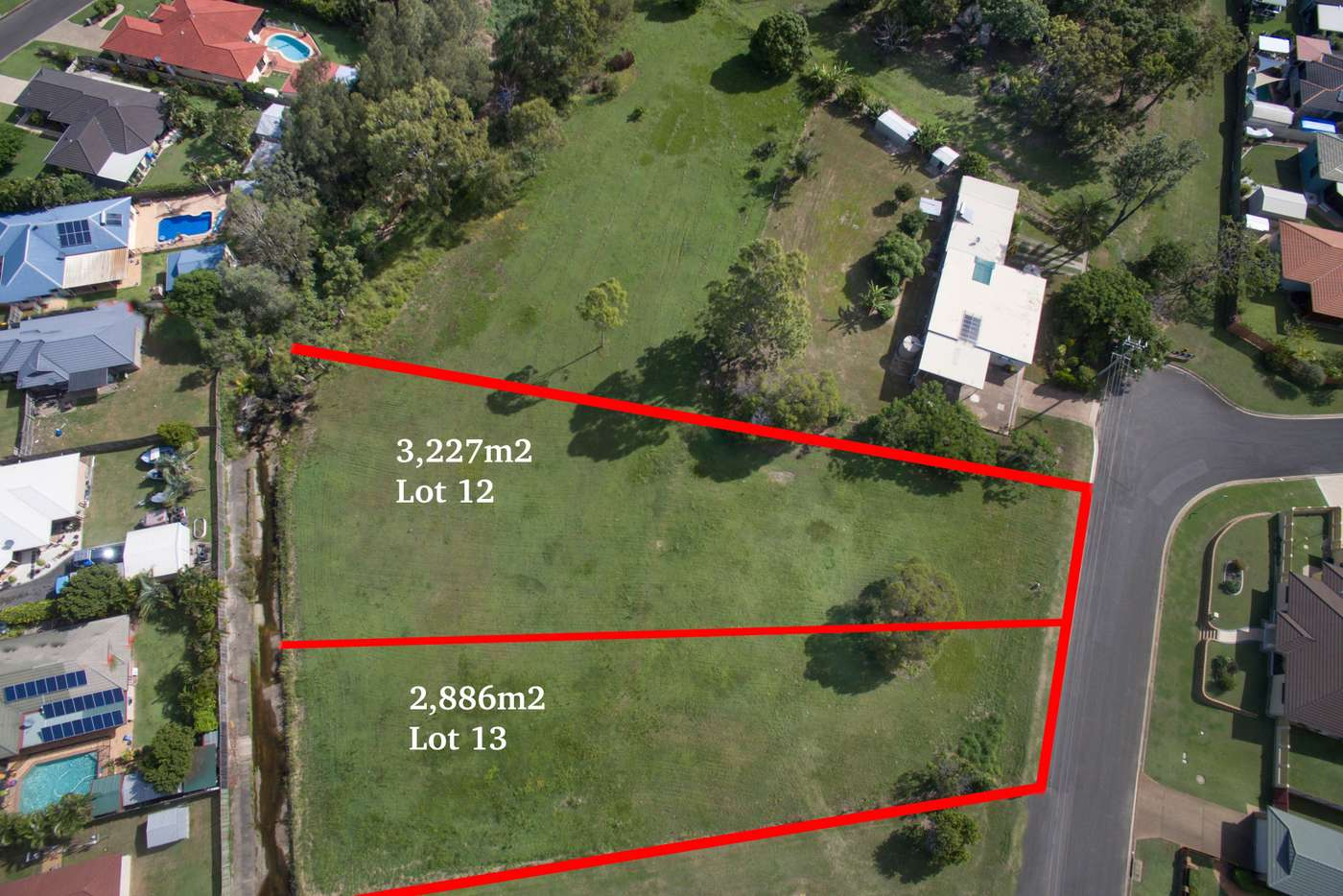 Main view of Homely residentialLand listing, 12 & 13 Michel Lane, Avoca QLD 4670