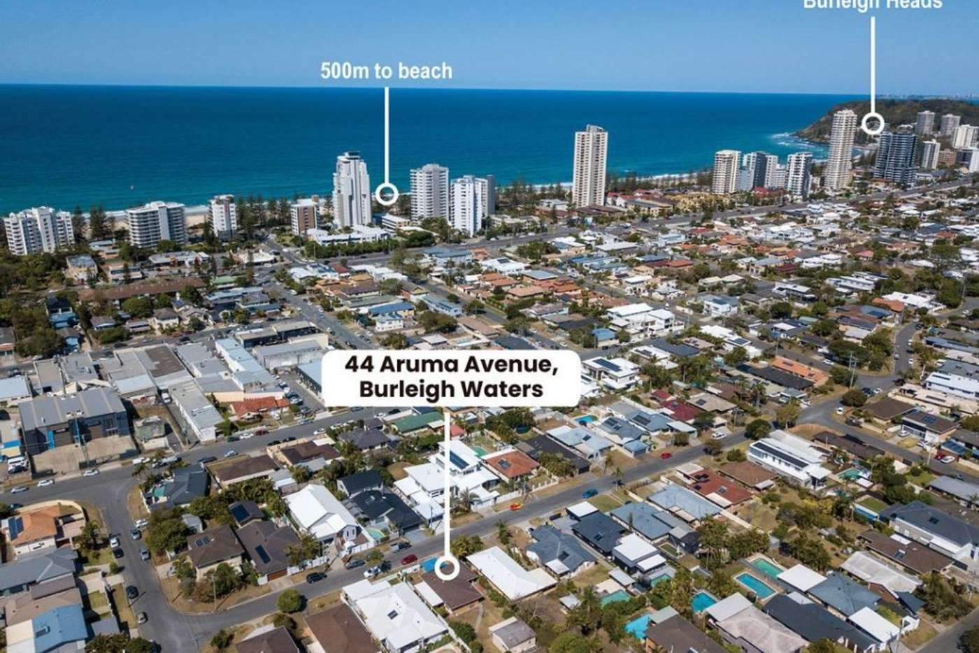 Main view of Homely house listing, 44 Aruma Avenue, Burleigh Waters QLD 4220