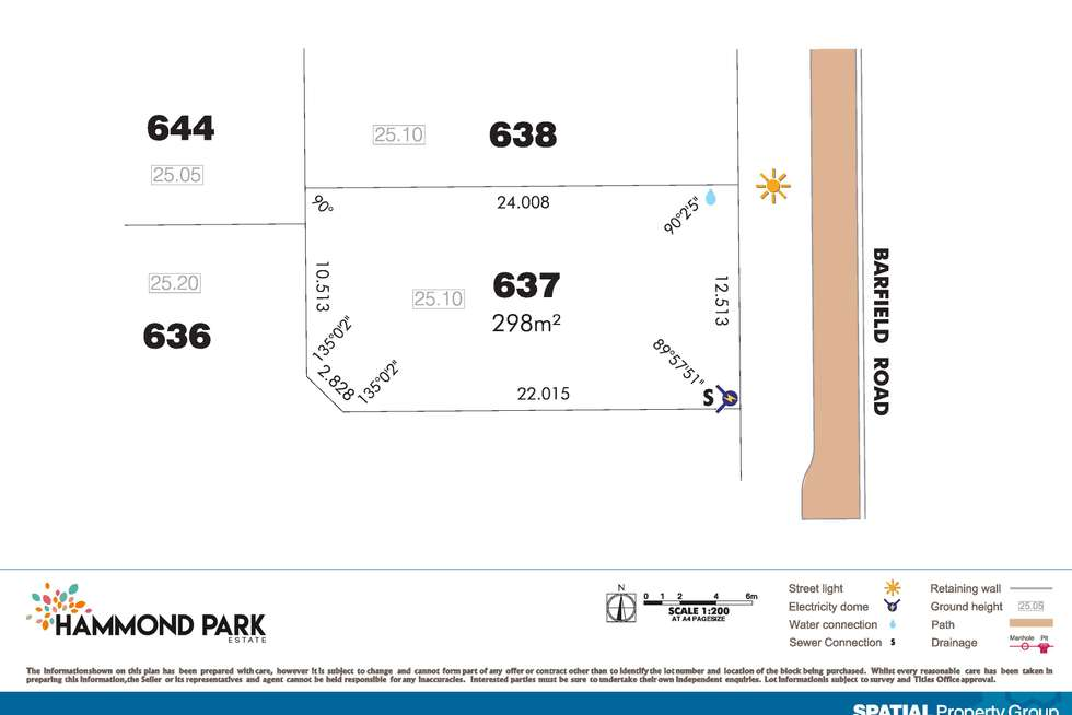 Second view of Homely residentialLand listing, Lot 637 Barfield Rd, Hammond Park WA 6164