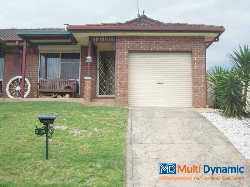 Main view of Homely semidetached listing, 2/19 Zeppelin Place, Raby, NSW 2566