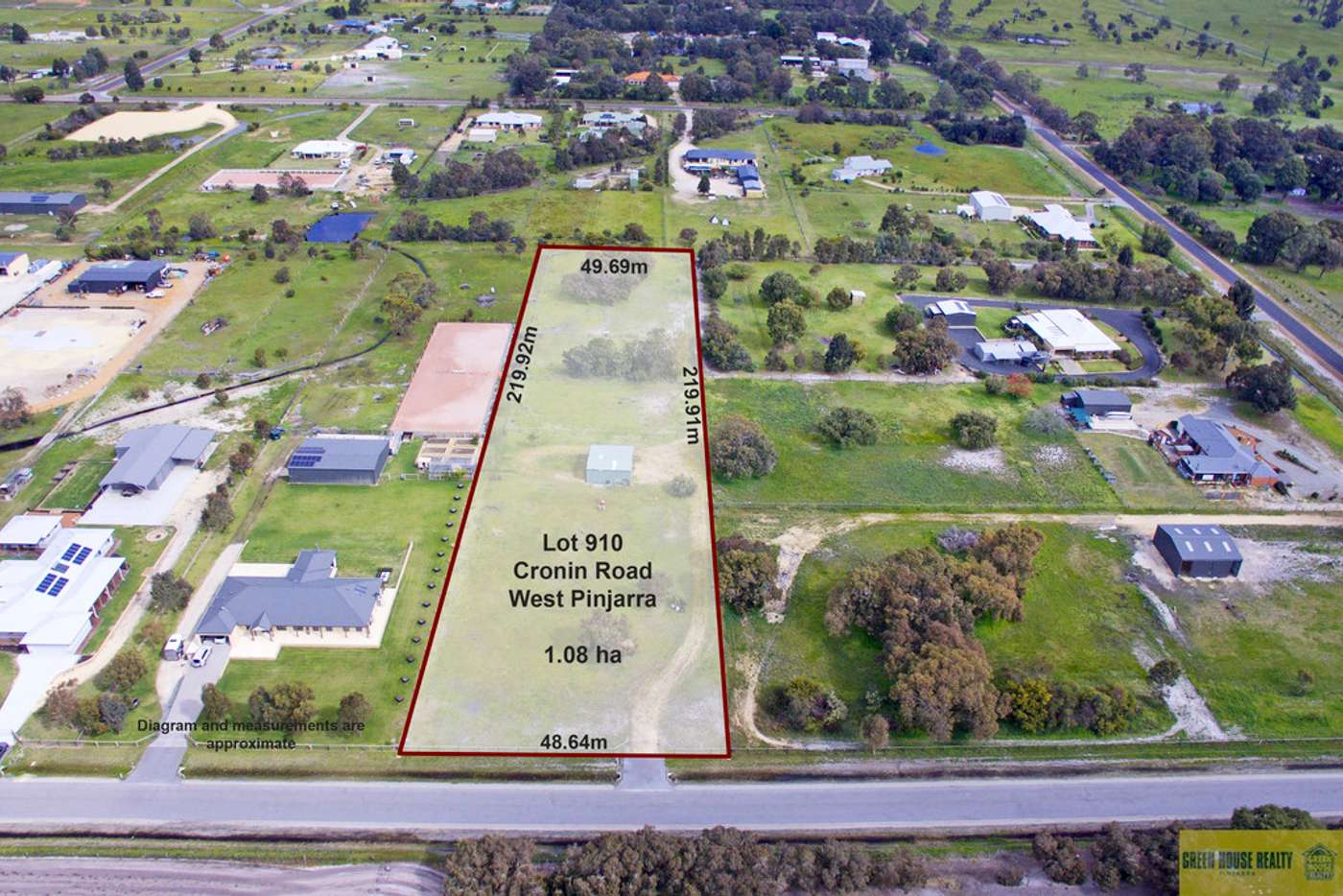 Main view of Homely residentialLand listing, Lot 910 Cronin Road, West Pinjarra WA 6208