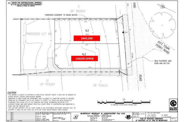 Proposed Lots at 121 King Road, Wilberforce NSW 2756