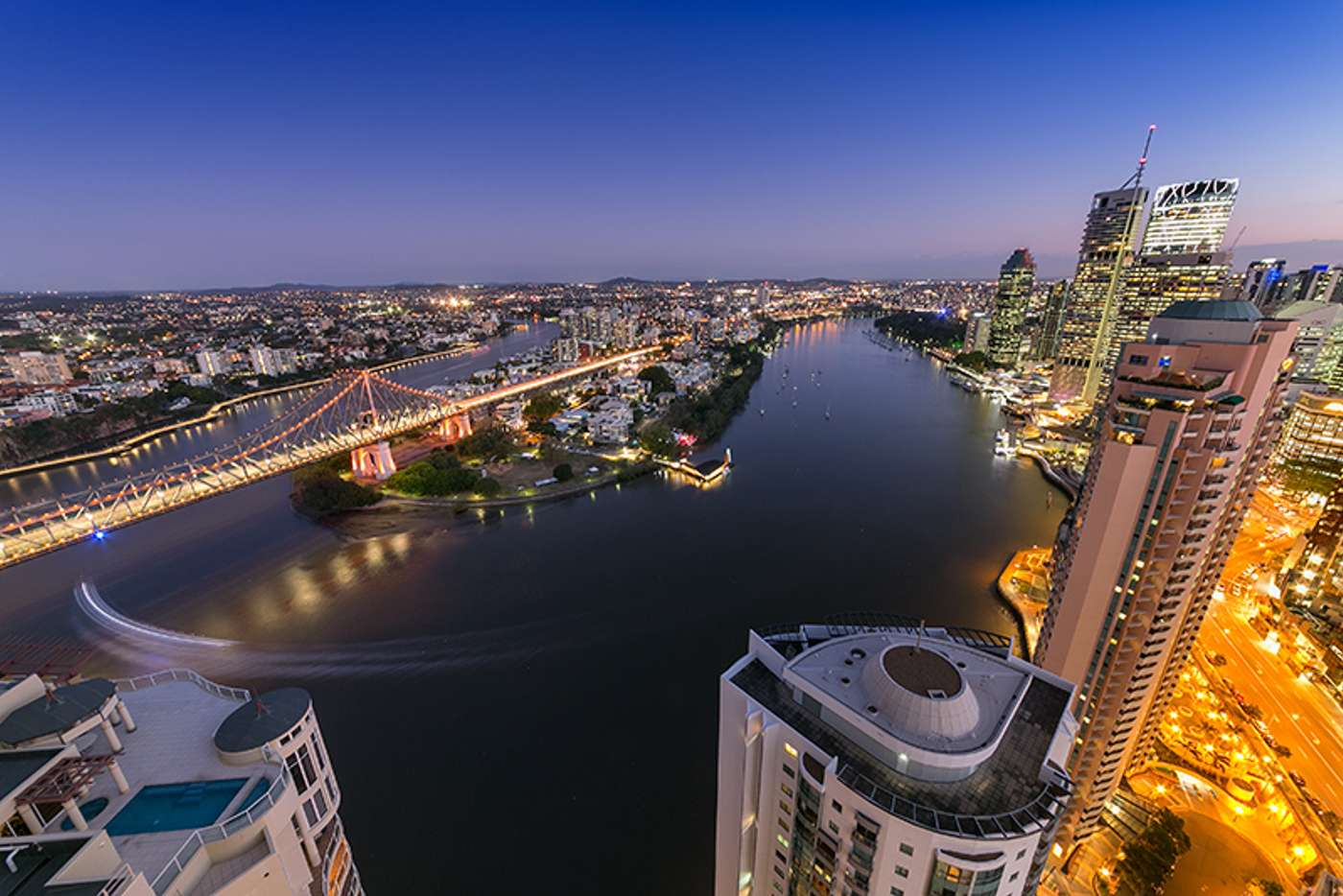 Main view of Homely apartment listing, 412/30 Macrossan Street, Brisbane City QLD 4000