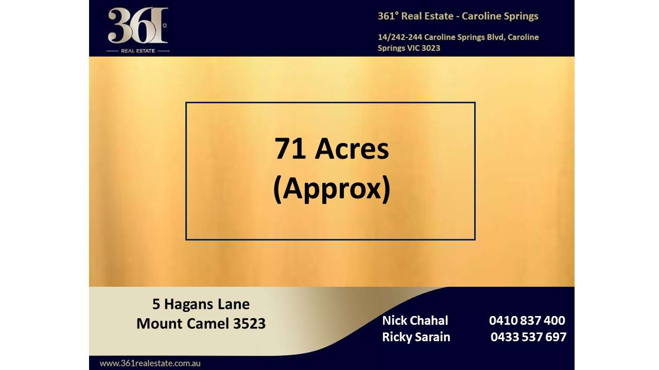 Main view of Homely  listing, 5 Hagans Lane, Mount Camel, VIC 3523