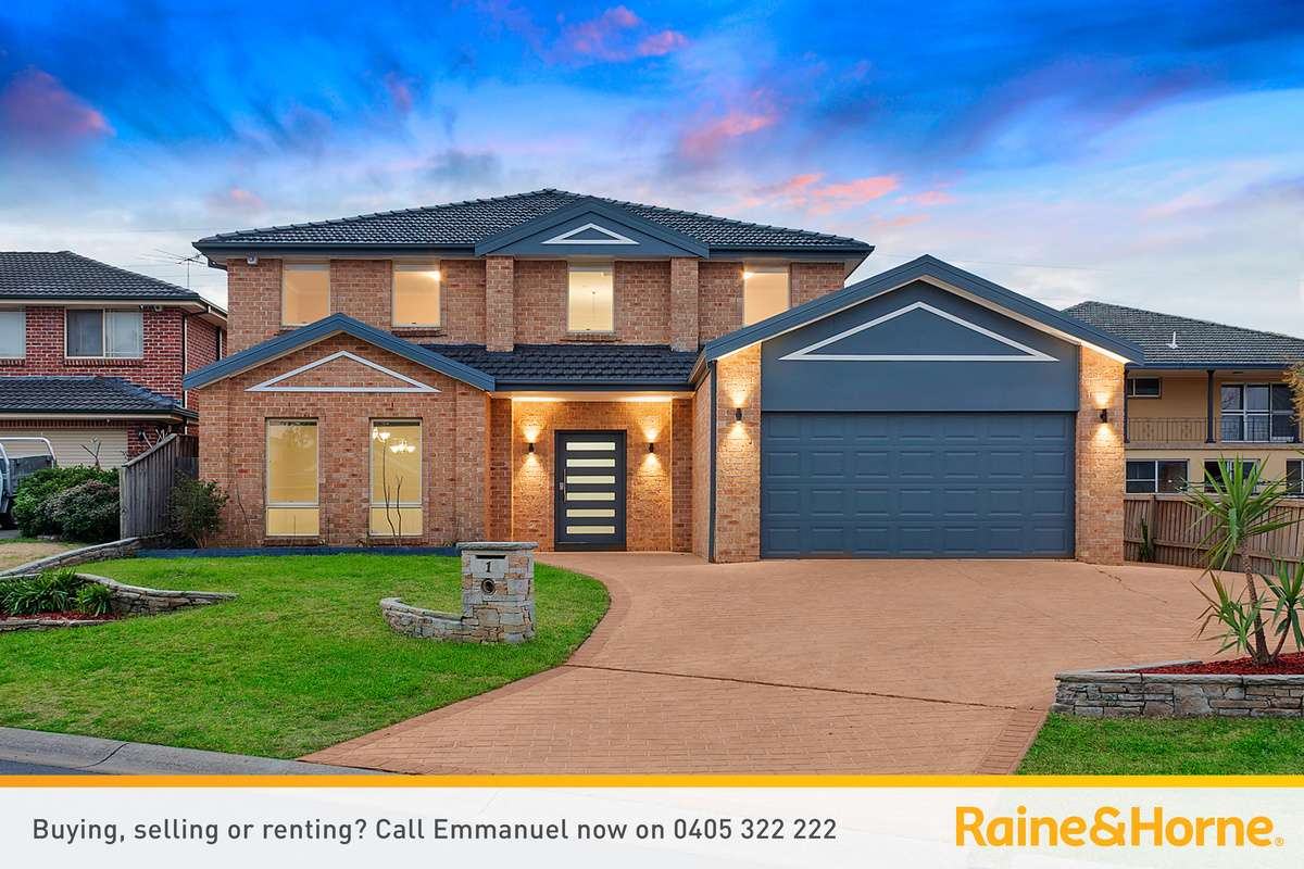 Main view of Homely house listing, 1 Perseus Circuit, Kellyville, NSW 2155
