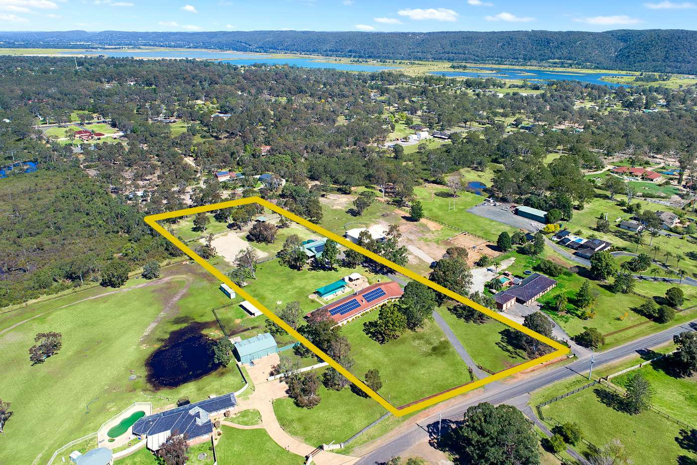 Main view of Homely acreageSemiRural listing, 224 Hinxman Road, Castlereagh NSW 2749
