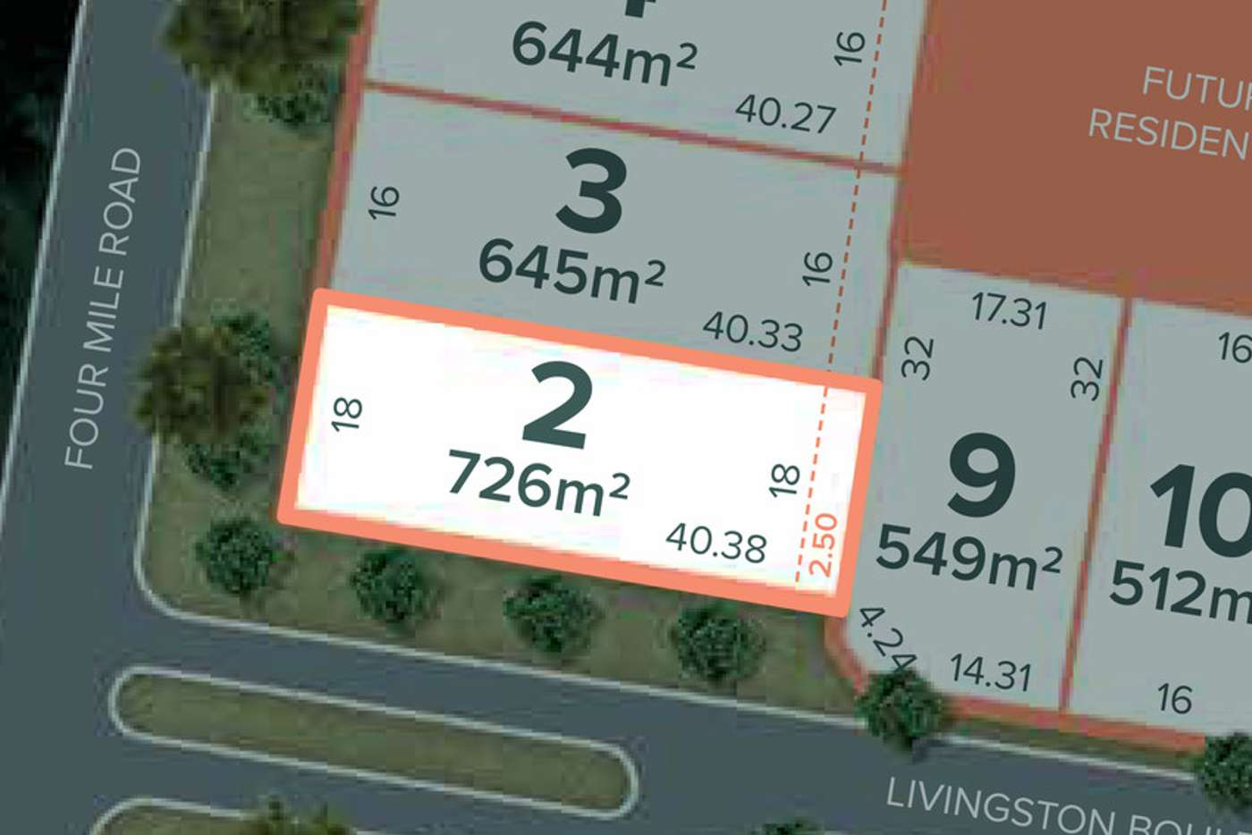Main view of Homely residentialLand listing, Lot 2 / 32 Four Mile Road, Benalla VIC 3672