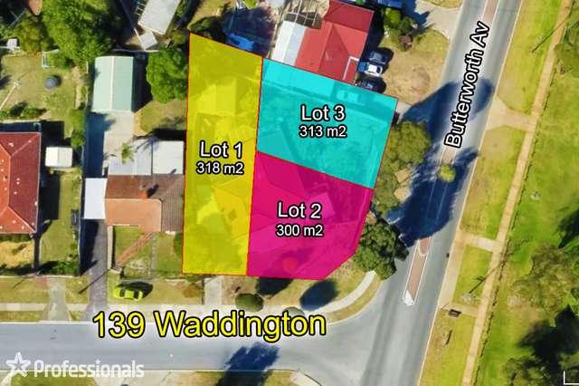 LOT 1, 2 & 3/139 Waddington Crescent, Koondoola WA 6064