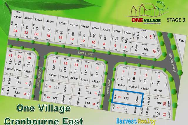 LOT 112/7 Nelson St, Cranbourne East VIC 3977