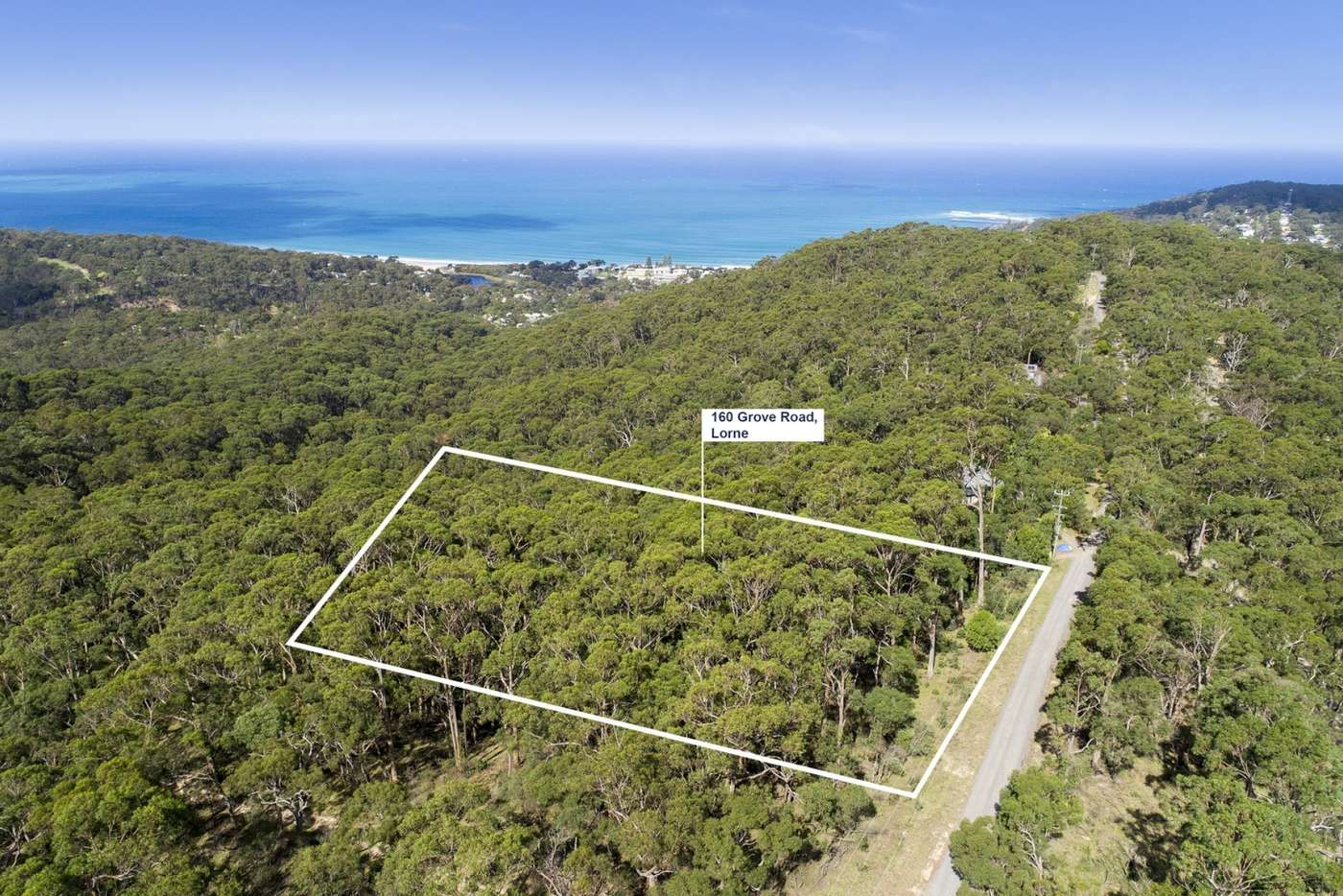 Main view of Homely residentialLand listing, 160 Grove Road, Lorne VIC 3232