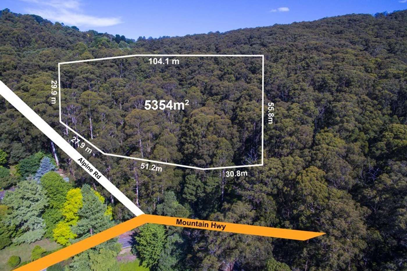 Main view of Homely residentialLand listing, 96 Alpine Road, Ferny Creek VIC 3786