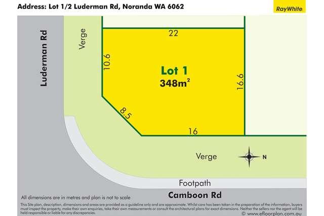 Lot 1/2 Luderman Road, Noranda WA 6062