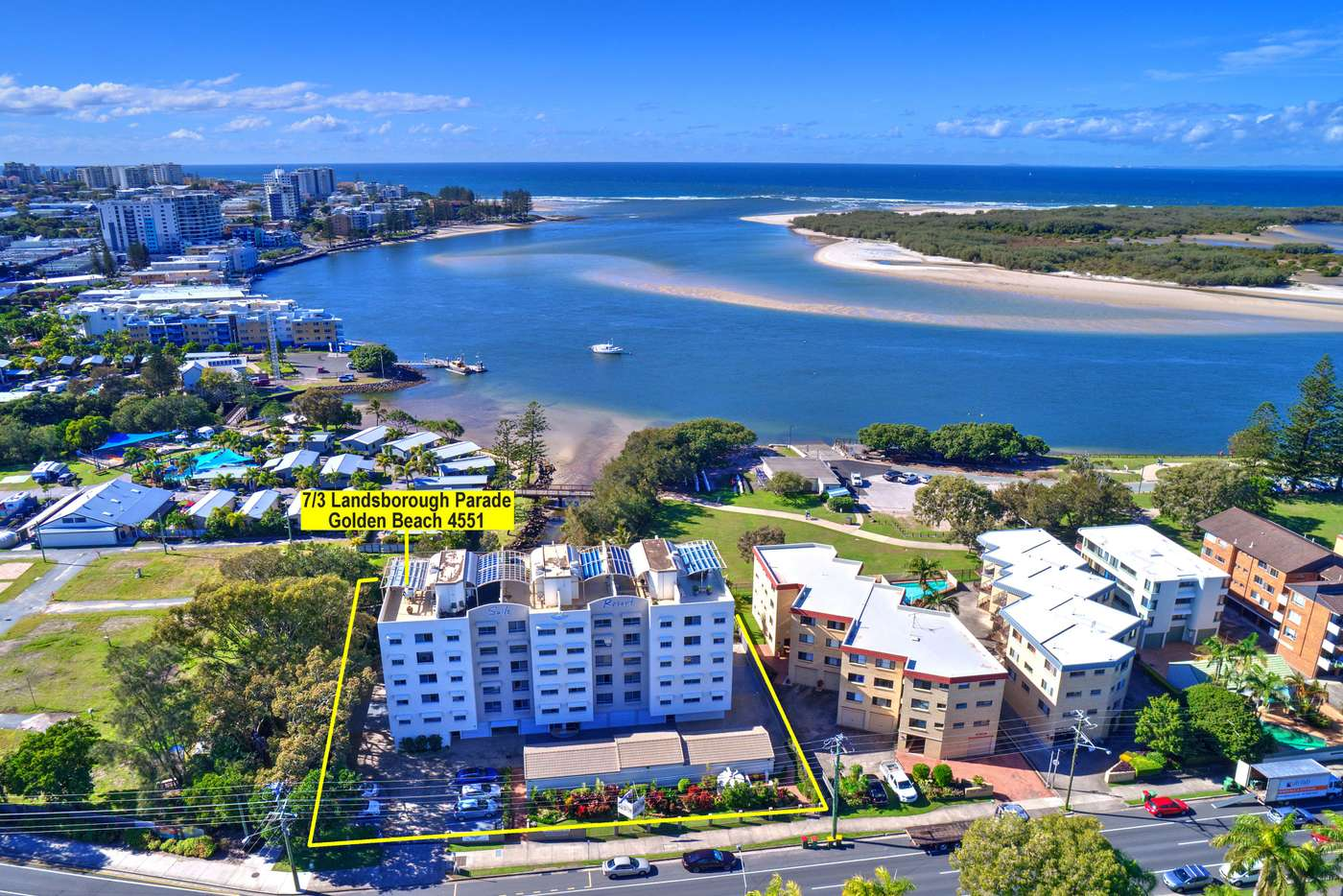 Main view of Homely unit listing, Unit 7/3 Landsborough Parade, Golden Beach QLD 4551