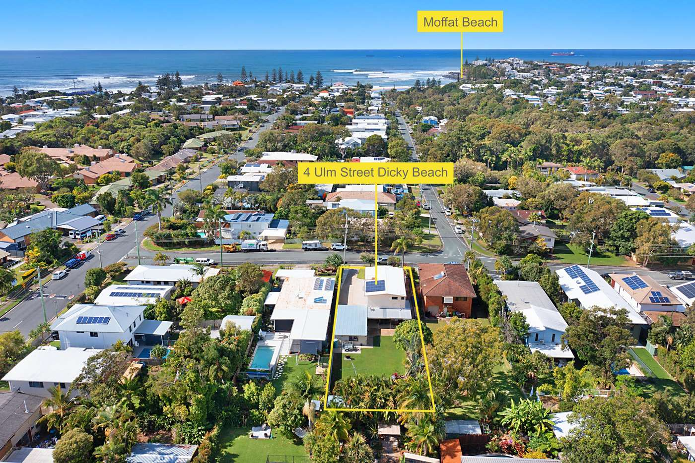 Main view of Homely house listing, 4 Ulm Street, Dicky Beach QLD 4551