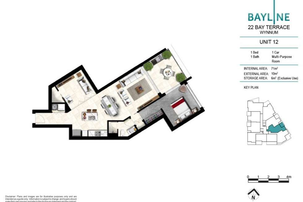 Fourth view of Homely apartment listing, 12/22 Bay Terrace, Wynnum QLD 4178