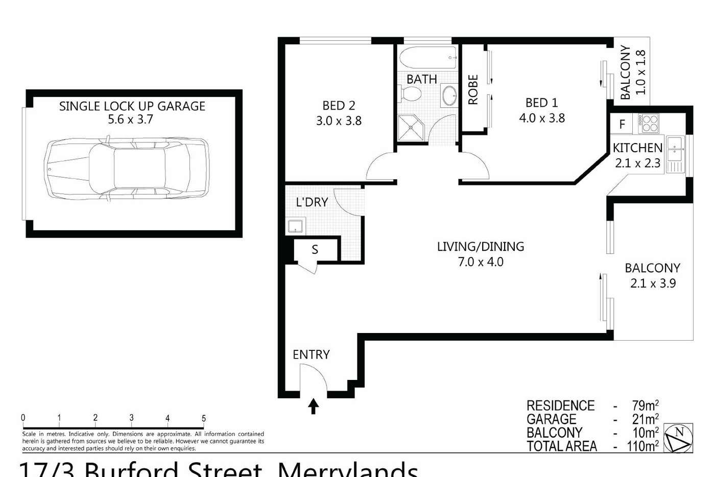 Sixth view of Homely unit listing, 17/03 Burford Street, Merrylands NSW 2160