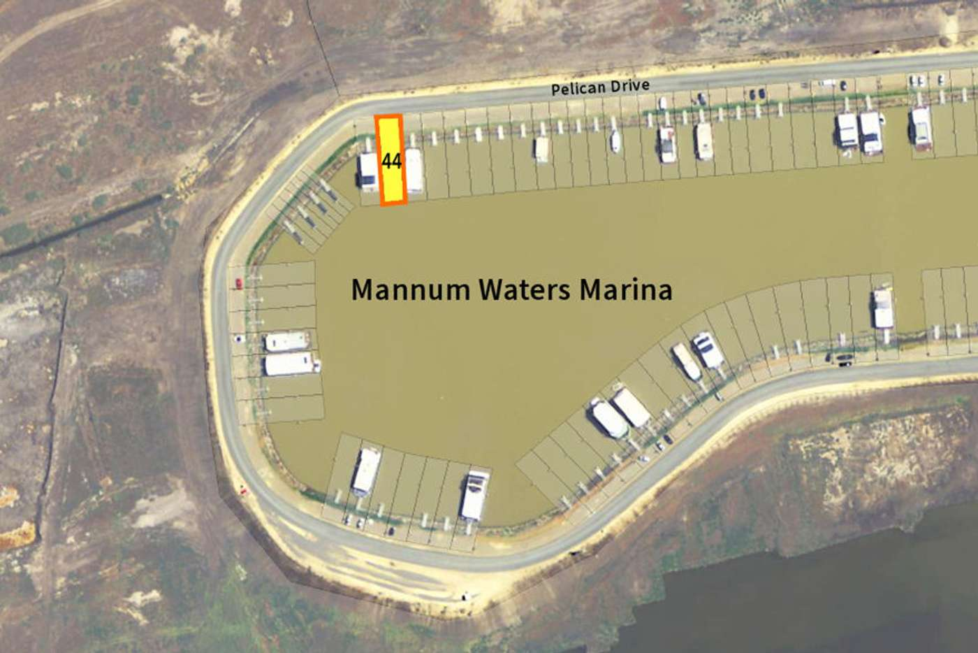 Main view of Homely residentialLand listing, Berth 44 Pelican Drive, Mannum Waters, Mannum SA 5238